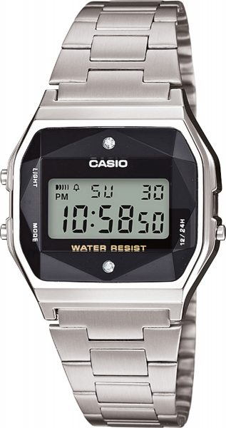CASIO Retro Diamond Collection Damenuhr A158WEAD-1EF