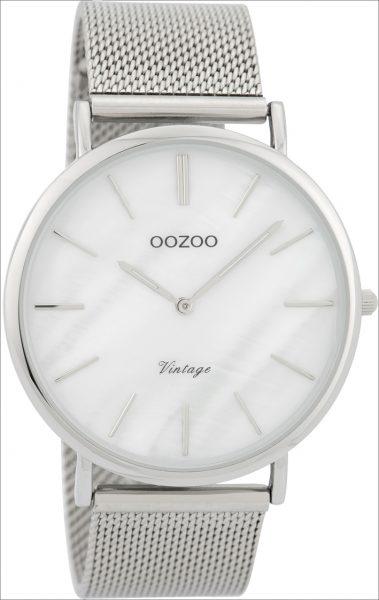 OOZOO SALE Damenuhr C9360 silber Mesharm...