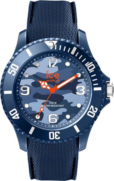 ICE WATCH  SALE Herrenuhr 016293 ICE bastogne blue medium 43cm Tarnfleck Muster Silikonband