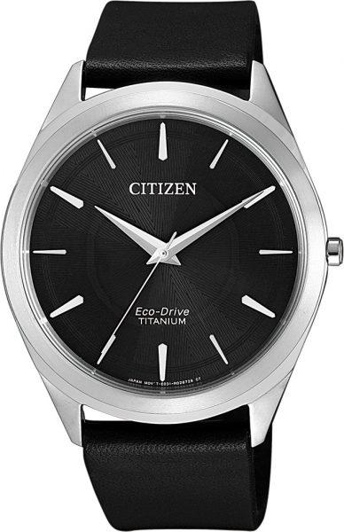 Citizen SALE Herrenuhr BJ6520-15E Super Titanium Eco-Drive schwarzes Ziffernblatt