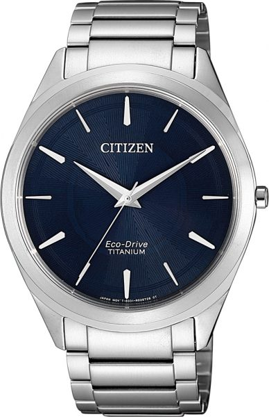 Citizen SALE Herrenuhr BJ6520-82L Super Titanium Eco-Drive Ziffernblatt blau