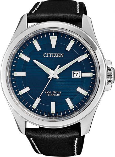 Citizen SALE Herrenuhr BM7470-17L Eco-Drive blaues Ziffernblatt