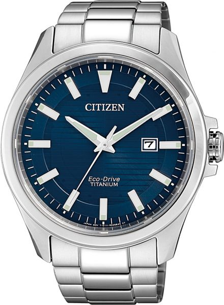 Citizen SALE Herrenuhr BM7470-84L Eco-Drive blaues Ziffernblatt