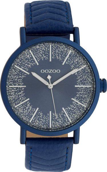 OOZOO Uhren C10147 blaues Lederband Geh�...