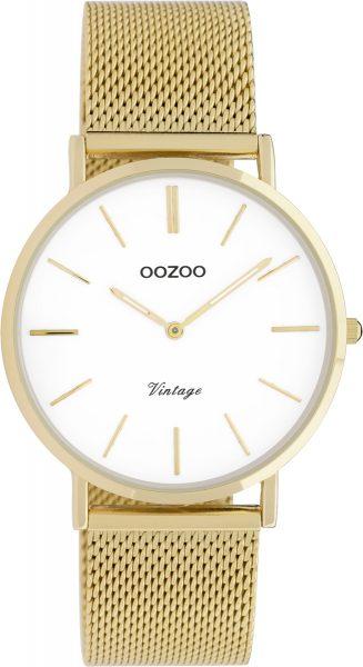 OOZOO Uhren C9910 Gold Edelstahl Milanaise Armband goldfarbenes Gehäuse Damenuhr 36mm