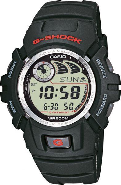 CASIO Herrenuhr SALE G-2900F-1VER G-shock schwarz digital Chronograph Auto Illuminator interner Speicher