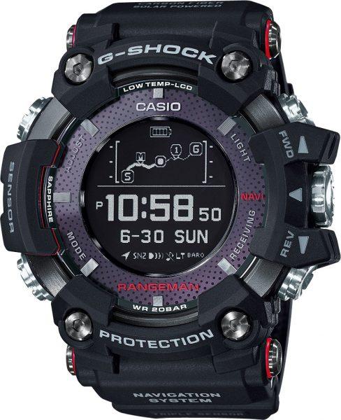 CASIO Herrenuhr GPR-B1000-1ER Rangeman schwarz Bluetooth Solar Kompass GPS Thermometer Mondphase G-Shock PREMIUM