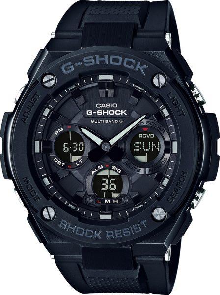 CASIO Herrenuhr GST-W100G-1BER schwarz Solar Funkuhr Chronograph Analog Digital G-STEEL G-SHOCK PREMIUM