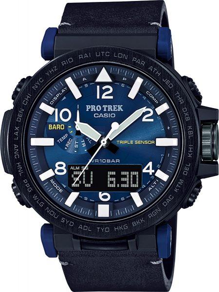 CASIO SALE Herrenuhr PRG-650YL-2ER schwarz blau Solaruhr Smart Access Höhenmesser Barometer Thermometer PRO TREK PREMIUM
