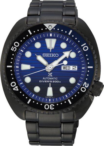 SEIKO SALE Herrenuhr Prospex SRPD11K1 Automatik Edelstahl IP schwarz 20bar Safe the Ocean Special Edition 2019 Black Turtle 45mm Durchmesser