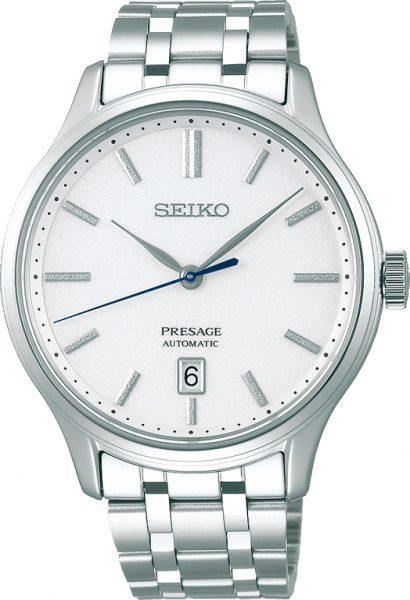 SEIKO Herrenuhr Presage SRPD39J1 Automatik Edelstahl Vintage Retro Design 42mm Durchmesser