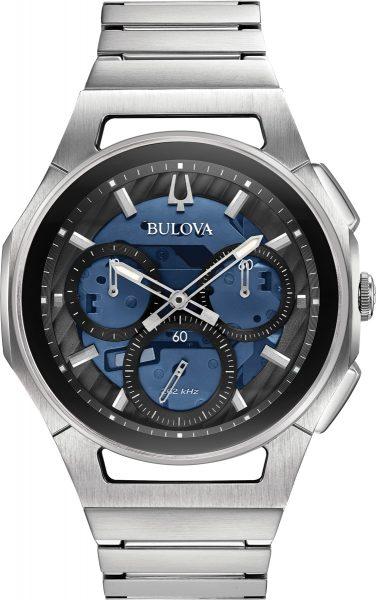 Bulova SALE Herrenuhr 96A205 Curv Chronograph Edelstahl hochleistungs Quarzwerk Saphirglas Glasboden