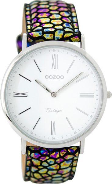 OOZOO SALE Damenuhr C8941 Rainbow silber...