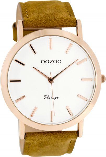 OOZOO SALE Herrenuhr C8118 Quarz Lederband Metall