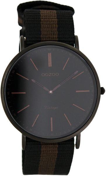 OOZOO SALE Herrenuhr C7304 schwarz braun Natoband schwarz Metall