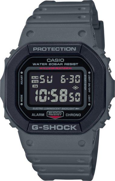 Casio G-Shock SALE DW-5610SU-8ER Herren Uhr Quarz Digital Grau Schwarz