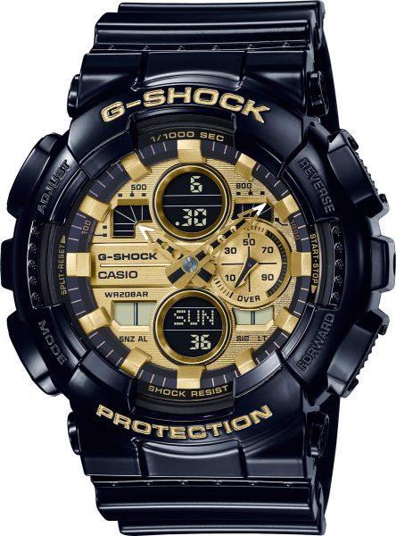 Casio  G-Shock SALE GA-140GB-1A1ER Herrenuhr Quarz Analog Digital Schwarz Gold