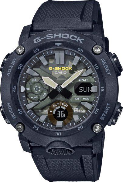 Casio G-Shock SALE GA-2000SU-1AER Herrenuhr Quarz Analog Digital Schwarz