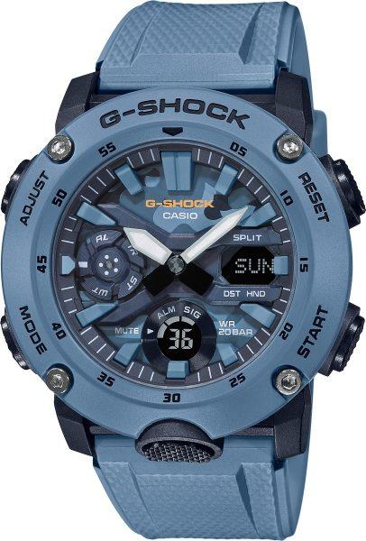Casio G-Shock SALE GA-2000SU-2AER Herrenuhr Quarz Analog Digital Blau