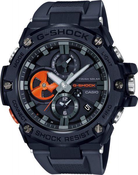 Casio G-Shock GST-B100B-1A4ER Herren Uhr Solar Analog Bluetooth Schwarz