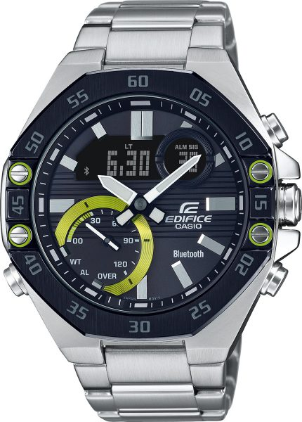 Casio Edifice ECB-10DB-1AEF Herren Uhr Quarz Analog Digital Chronograph Bluetooth Silber Schwarz