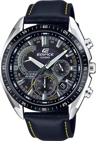 Casio Edifice SALE EFR-570BL-1AVUEF Herren Uhr schwarz Quarzwerk Chronograph