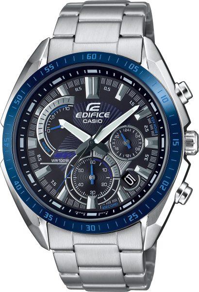 Casio Edifice Herren Uhr EFR-570DB-1BVUEF Quarz Chronograph Silber