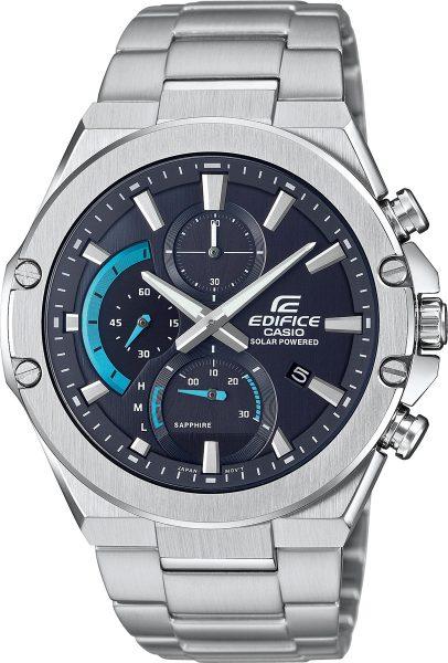 Casio Edifice EFS-S560D-1AVUEF Herren Uhr Solar Analog Chronograph Silber Schwarz