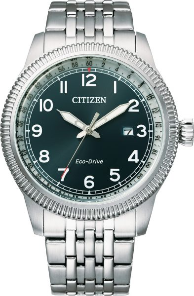 Herrenuhr Citizen Eco Drive BM7480-81L Solar blaues Ziffernblatt Edelstahl