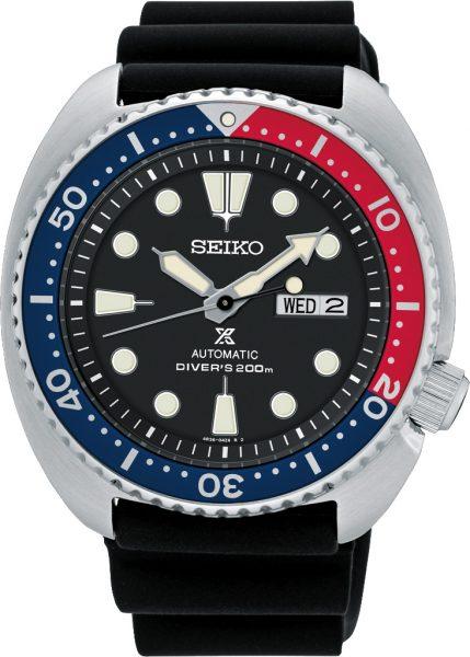 Seiko SRP779K1 Prospex Automatikuhr Diver Turtle Pepsi 20 bar Taucheruhr Herren Edelstahl Urethan