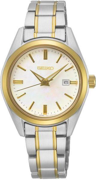 Seiko SUR636P1 Damenuhr Quarzwerk Edelstahl bicolor gold 10 bar Saphirglas Perlmuttzifferblatt Lumibrite Indexe