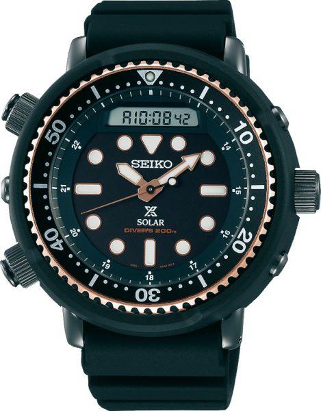 Seiko Prospex SNJ028P1 Diver Analog Digital Herrenuhr Solar Taucheruhr Arnie