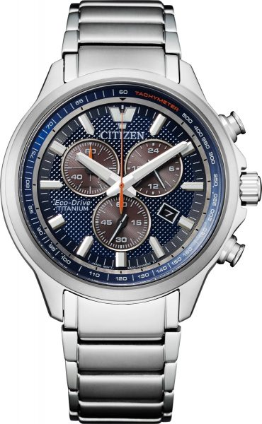 Citizen AT2470-85L Solar Chronograph Herrenuhr Titan Saphirglas
