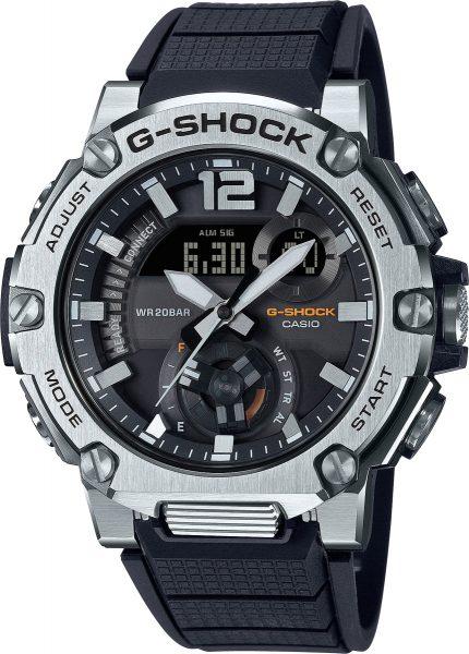 Casio G-Shock GST-B300S-1AER herrenuhr sportuhr bluetooth solar taucheruhr Edelstahl schwarzes Band
