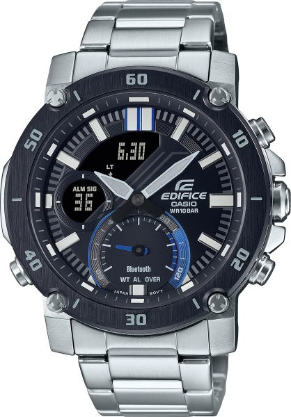 Casio Edifice ECB-20DB-1AEF Bluetooth Herrenuhr Chronograph 10 Bar Wasserdicht Edelstahl