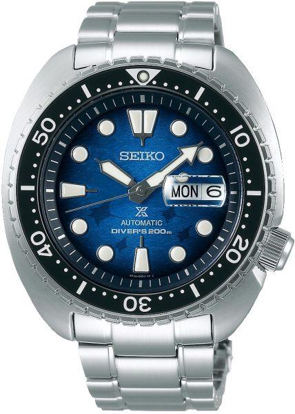 Seiko Prospex SRPE39K1 Save the Ocean Automatik Herren Taucheruhr Turtle King Blau/Schwarz