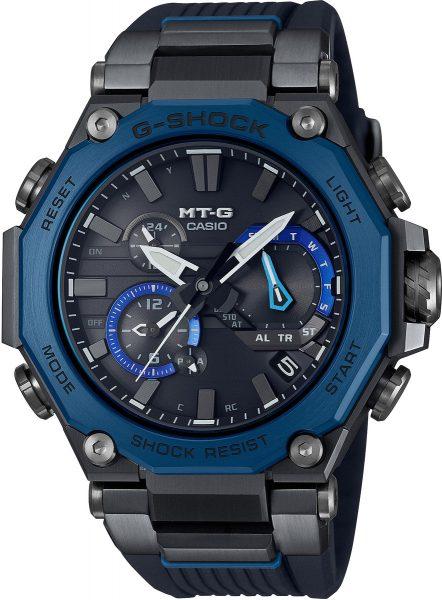 Casio G-Shock MT-G Funk-Solar Herrenuhr Schwarz/Blau MTG-B2000B-1A2ER