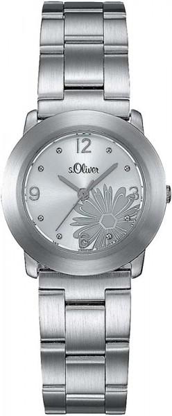 s.Oliver SO-1161-MQ Quarzwerk, Edelstahl...