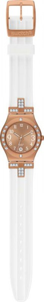 Swatch-Uhr YLG403 Fancy Me Pink Gold Qua...