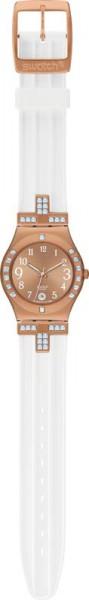 Swatch-Uhr YLG403 Fancy Me Pink Gold Qua...