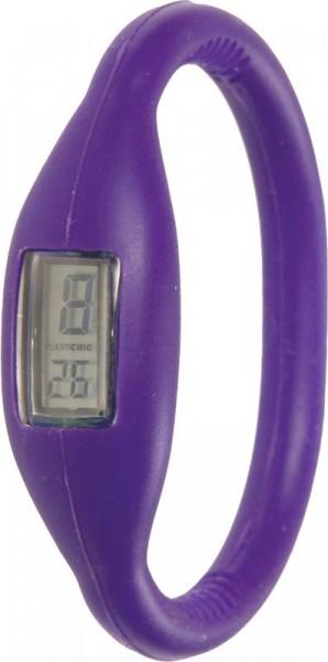 Plastichic Quarzwerk, Silkionarmband in violett, 3 ATM, Digitalanzeige, Umfang 16cm. Eine sehr schöne Uhr zum Hammerpreis vom größten Uhrenhändler Deutschlands. ABRAMOWICZ – die Nr. 1 für Schmuck und Uhren.