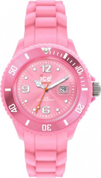 Ice Watch SIPKSS09 Quarzwerk, Kunststoffgehäuse, Silikonband pink, Datum, Mineralglas, 5 ATM, 38mm Durchmesser, 10mm Höhe aus Stuttgart