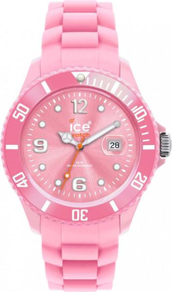 Ice Watch SIPKBS09 Quarzwerk, Kunststoffgehäuse, Silikonband pink, Datum, Mineralglas 5 ATM, 48mm Durchmesser, 10mm Höhe aus Stuttgart
