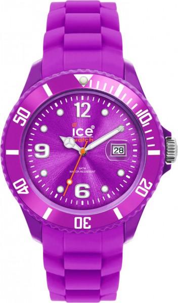 Ice Watch SIPEBS09 Quarzwerk, Kunststoffgehäuse, Silikonband violett, Datum, Mineralglas 5 ATM, 48mm Durchmesser 10mm Höhe aus Stuttgart