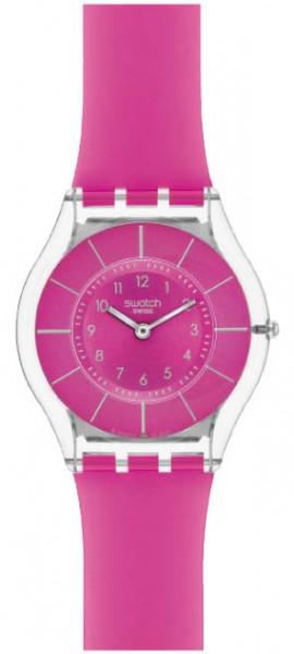 Swatch Pink Classiness Quarzwerk, Kunststoffgehäus e, Silikonband, Kunststoff glas, 3 ATM, 35mm Durchm, 3,8mm Höhe