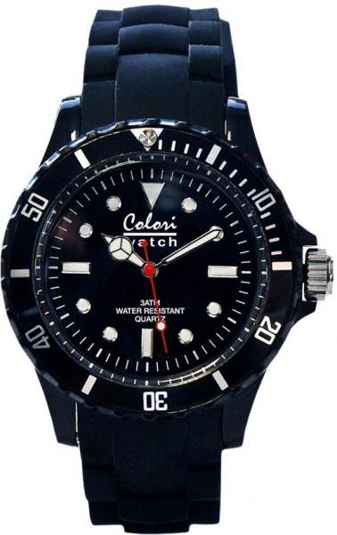 Bunte Uhren von Colori aus dem Hause Abramowicz, eine absolut trendige Quarzwerk Uhr mit schwarzem Ziffernblatt. Die Uhr hat ein Kratzunempfindliches Mineralglas, desweiteren besitzt die Uhr ein kunststoffgehäuse und ein butterweiches und angenehmes Silik