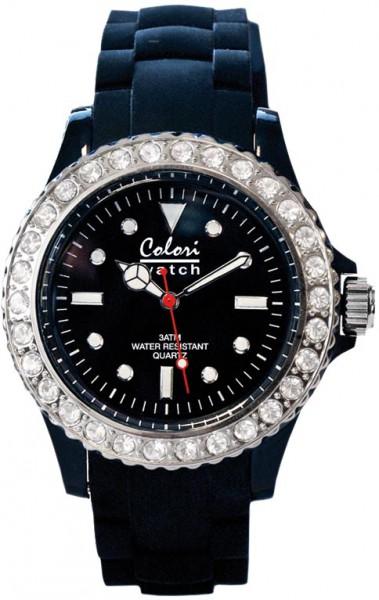 Bunte Uhren von Colori aus dem Hause Abramowicz, eine total stylische Quarzwerk Uhr mit schwarzem Ziffernblatt und im Dunkeln leuchtende Zeiger. Die Uhr zeichnet sich durch das Kratzunempfindliche Mineralglas aus, desweiteren besitzt die Uhr ein massives