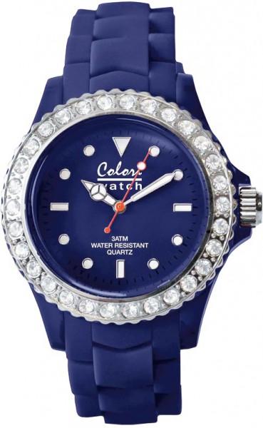 Bunte Uhren von Colori aus dem Hause Abramowicz, eine total stylische Quarzwerk Uhr mit Dunkelblauem Ziffernblatt und im Dunkeln leuchtende Zeiger. Die Uhr zeichnet sich durch das Kratzunempfindliche Mineralglas aus, desweiteren besitzt die Uhr ein Kunsts