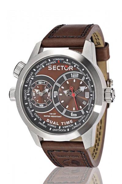 Sector Uhr R3251102055 sportliche Quarzwerk Taucheruhr von Sector aus dem Hause Abramowicz mit braunem Ziffernblatt Die Uhr zeichnet sich durch das Kratzunempfindliche Mineralglas aus, desweiteren besitzt die Uhr ein massives Edelstahlgehäuse in Silber. D
