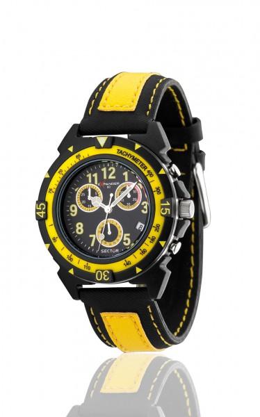 Sector Uhr R3271697027 sportliche Quarzwerk Taucheruhr von Sector aus dem Hause Abramowicz mit schwarz/gelbem Ziffernblatt Die Uhr zeichnet sich durch das Kratzunempfindliche Mineralglas aus, desweiteren besitzt die Uhr ein massives Edelstahlgehäuse in sc